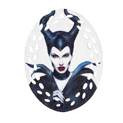 Maleficent Drawing Oval Filigree Ornament (2 Side)  by KentChua