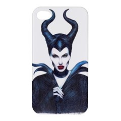 Maleficent Drawing Apple Iphone 4/4s Premium Hardshell Case by KentChua