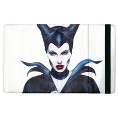 Maleficent Drawing Apple Ipad 2 Flip Case by KentChua