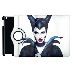 Maleficent Drawing Apple Ipad 2 Flip 360 Case by KentChua