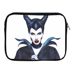 Maleficent Drawing Apple Ipad 2/3/4 Zipper Cases by KentChua