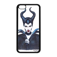 Maleficent Drawing Apple Iphone 5c Seamless Case (black) by KentChua