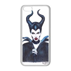 Maleficent Drawing Apple Iphone 5c Seamless Case (white) by KentChua
