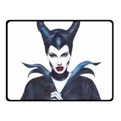 Maleficent Drawing Double Sided Fleece Blanket (small)  by KentChua