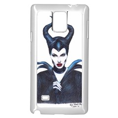 Maleficent Drawing Samsung Galaxy Note 4 Case (white)