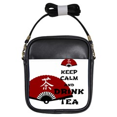 Keep Calm And Drink Tea   Asia Edition Girls Sling Bags