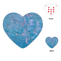 Abstract Waters With Hints Of Pink Playing Cards (heart)  by timelessartoncanvas