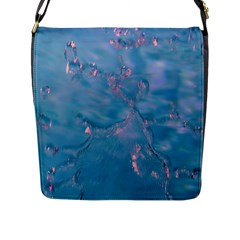 Abstract Waters With Hints Of Pink Flap Messenger Bag (l)  by timelessartoncanvas