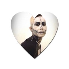 Halloween Skull And Tux  Heart Magnet by KentChua