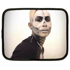 Halloween Skull And Tux  Netbook Case (large) by KentChua