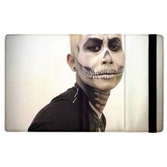 Halloween Skull And Tux  Apple Ipad 2 Flip Case by KentChua