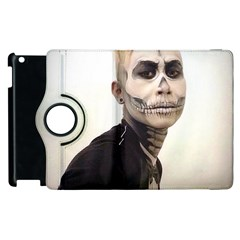 Halloween Skull And Tux  Apple Ipad 2 Flip 360 Case by KentChua