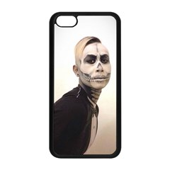 Halloween Skull And Tux  Apple Iphone 5c Seamless Case (black) by KentChua