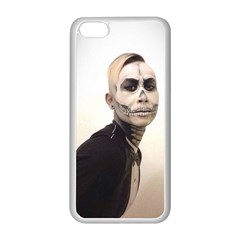 Halloween Skull And Tux  Apple Iphone 5c Seamless Case (white) by KentChua