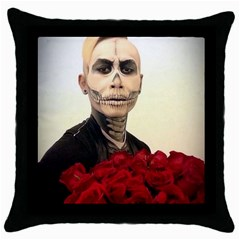 Halloween Skull Tux And Roses  Throw Pillow Cases (black)