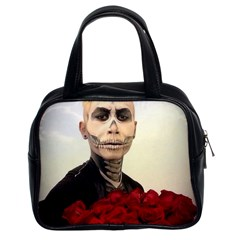 Halloween Skull Tux And Roses  Classic Handbags (2 Sides)