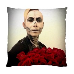 Halloween Skull Tux And Roses  Standard Cushion Cases (two Sides)  by KentChua