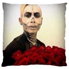 Halloween Skull Tux And Roses  Large Cushion Cases (two Sides)