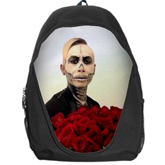 Halloween Skull Tux And Roses  Backpack Bag