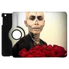 Halloween Skull Tux And Roses  Apple Ipad Mini Flip 360 Case