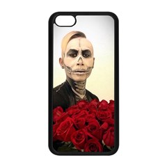 Halloween Skull Tux And Roses  Apple Iphone 5c Seamless Case (black) by KentChua