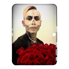 Halloween Skull Tux And Roses  Samsung Galaxy Tab 4 (10 1 ) Hardshell Case  by KentChua