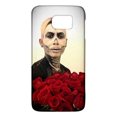 Halloween Skull Tux And Roses  Galaxy S6 by KentChua
