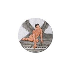 Angel And The Piano Drawing Golf Ball Marker