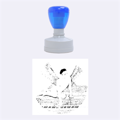 Angel And The Piano Drawing Rubber Round Stamps (medium) by KentChua