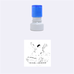 Angel And The Piano Drawing Rubber Round Stamps (small)