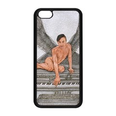 Angel And The Piano Drawing Apple Iphone 5c Seamless Case (black) by KentChua