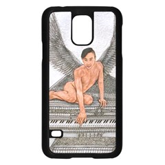 Angel And The Piano Drawing Samsung Galaxy S5 Case (black) by KentChua