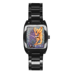 Zodiac Signs Scorpio Drawing Stainless Steel Barrel Watch by KentChua