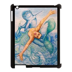 Zodiac Signs Pisces Drawing Apple Ipad 3/4 Case (black) by KentChua