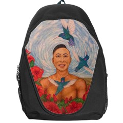 Spring Amazed By The Hummingbirds Drawing Backpack Bag by KentChua