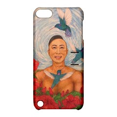 Spring Amazed By The Hummingbirds Drawing Apple Ipod Touch 5 Hardshell Case With Stand