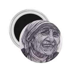 Mother Theresa  Pencil Drawing 2 25  Magnets by KentChua