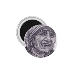 Mother Theresa  Pencil Drawing 1 75  Magnets by KentChua