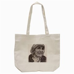 Mother Theresa  Pencil Drawing Tote Bag (cream)  by KentChua