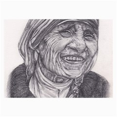 Mother Theresa  Pencil Drawing Collage 12  X 18  by KentChua