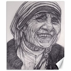 Mother Theresa  Pencil Drawing Canvas 8  X 10  by KentChua