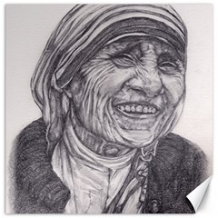 Mother Theresa  Pencil Drawing Canvas 12  X 12