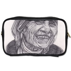 Mother Theresa  Pencil Drawing Toiletries Bags 2 Side
