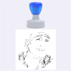 Mother Theresa  Pencil Drawing Rubber Round Stamps (large)