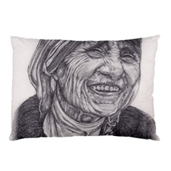 Mother Theresa  Pencil Drawing Pillow Cases (two Sides)