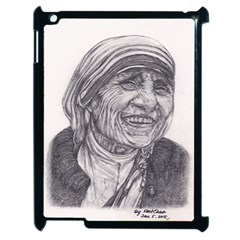 Mother Theresa  Pencil Drawing Apple Ipad 2 Case (black) by KentChua