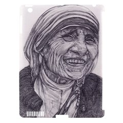 Mother Theresa  Pencil Drawing Apple Ipad 3/4 Hardshell Case (compatible With Smart Cover) by KentChua