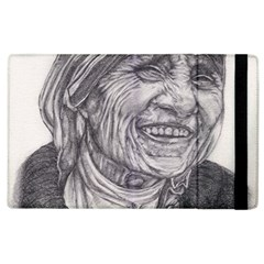 Mother Theresa  Pencil Drawing Apple Ipad 2 Flip Case by KentChua