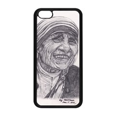 Mother Theresa  Pencil Drawing Apple Iphone 5c Seamless Case (black) by KentChua