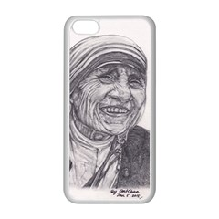 Mother Theresa  Pencil Drawing Apple Iphone 5c Seamless Case (white) by KentChua